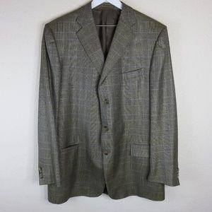 Ermenegildo Zegna Silk Wool Blend Jacket Men's